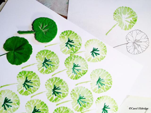 leaf print samples