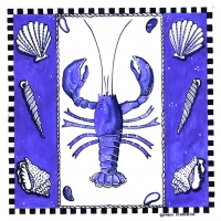 blue lobster and shells
