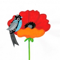 turq-bird--on-poppy