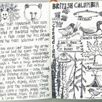 British Columbia sketch page