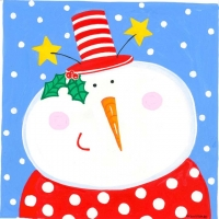 snowman-with-polka-dots