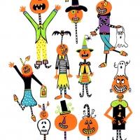 dancing pumpkins