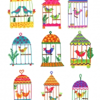 bird cages multi