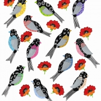 all birds + poppies