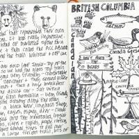 British Columbia sketch page
