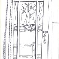 from cottage door