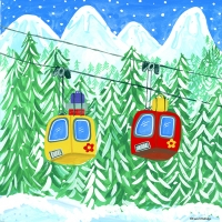 ski gondalas