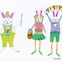 painting easter bunny
